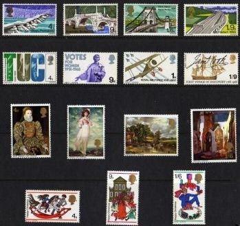 1968 GB - Year Set. * All Comms from this year * (15) MNH