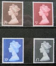 1969 GB - SG787-90 2/6d-£1 High Value Set of 4 MLH