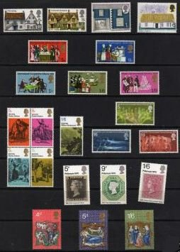 1970 GB - Year Set. * All Comms from this year * (23) MNH
