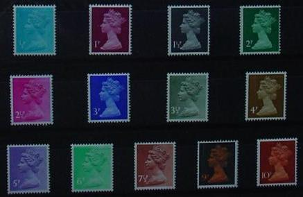 1971 GB - * Year Set. All Machins from this year * (13) MNH