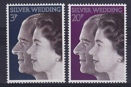 1972 GB - Royal Silver Wedding Set (2) MNH