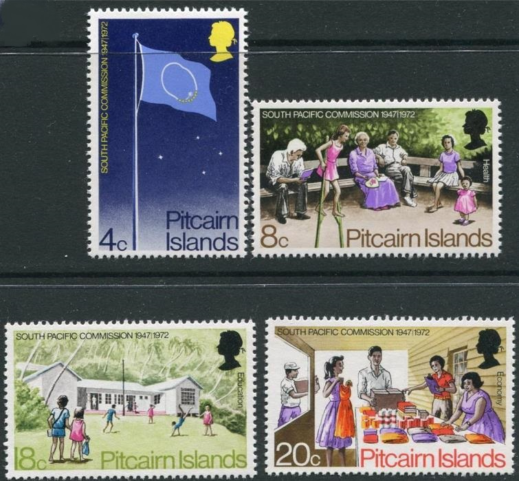 1972 PIT - SG120-23 Pitcairn Sth Pacific Commission Set (4) MNH