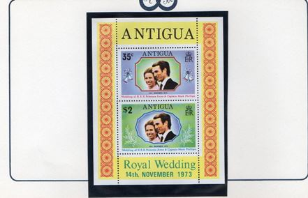1973 Anne and Mark Complete Wedding Album (36 countries) MNH