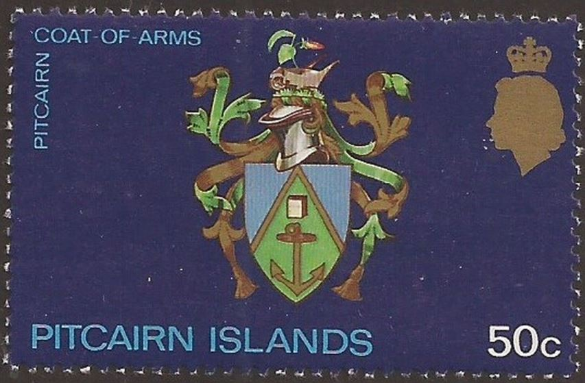 1973 PIT - SG106a 50¢ Pitcairn Coat of Arms MNH