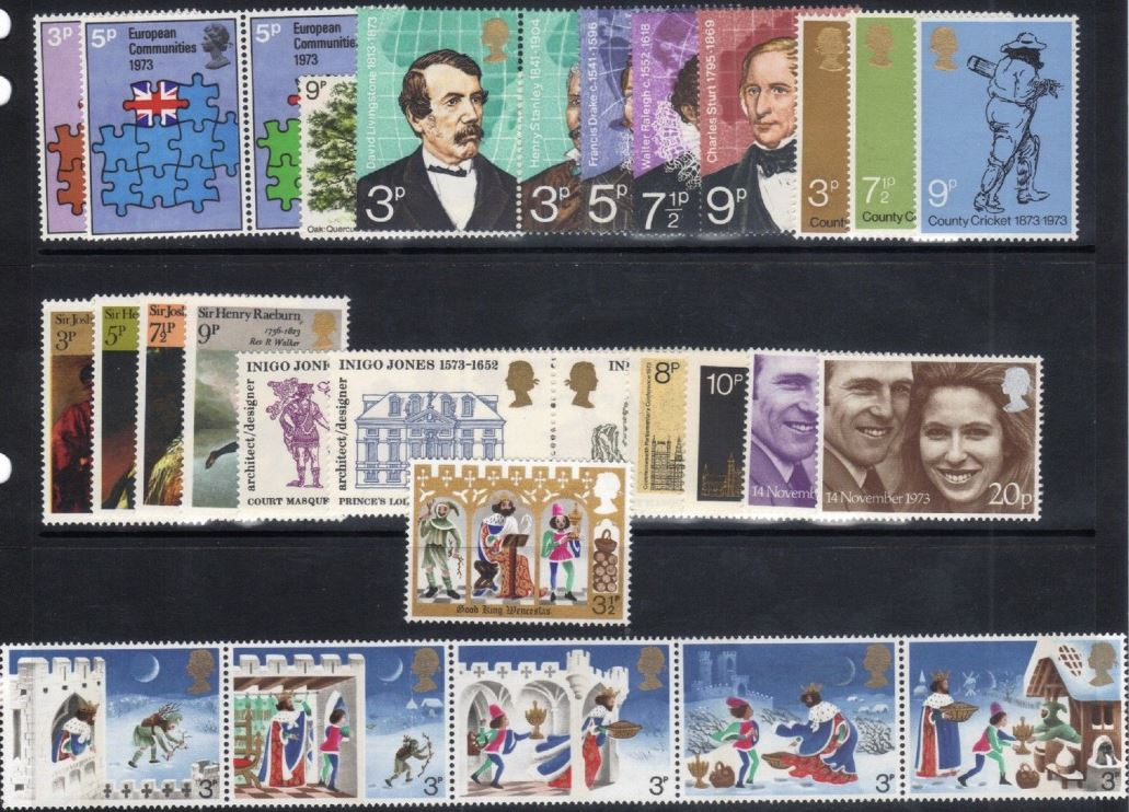 1973 GB - * Year Set. All Comms from this year * (30) MNH