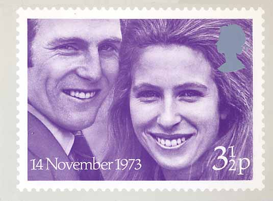 1973 GB - PHQ 004 - Royal Wedding - Set (1) MNH
