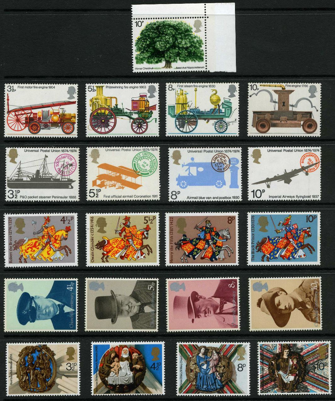 1974 GB - * Year Set. All Comms from this year * (21) MNH