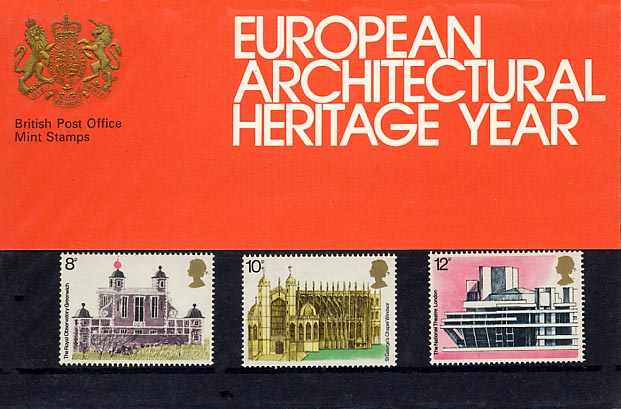 1975 GB - PP 070 - European Architectural Heritage Year Pres Pk