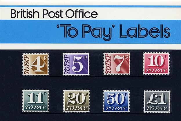 1977 GB - PP 093 - 'To Pay' Labels - Small Pres Pack (12)