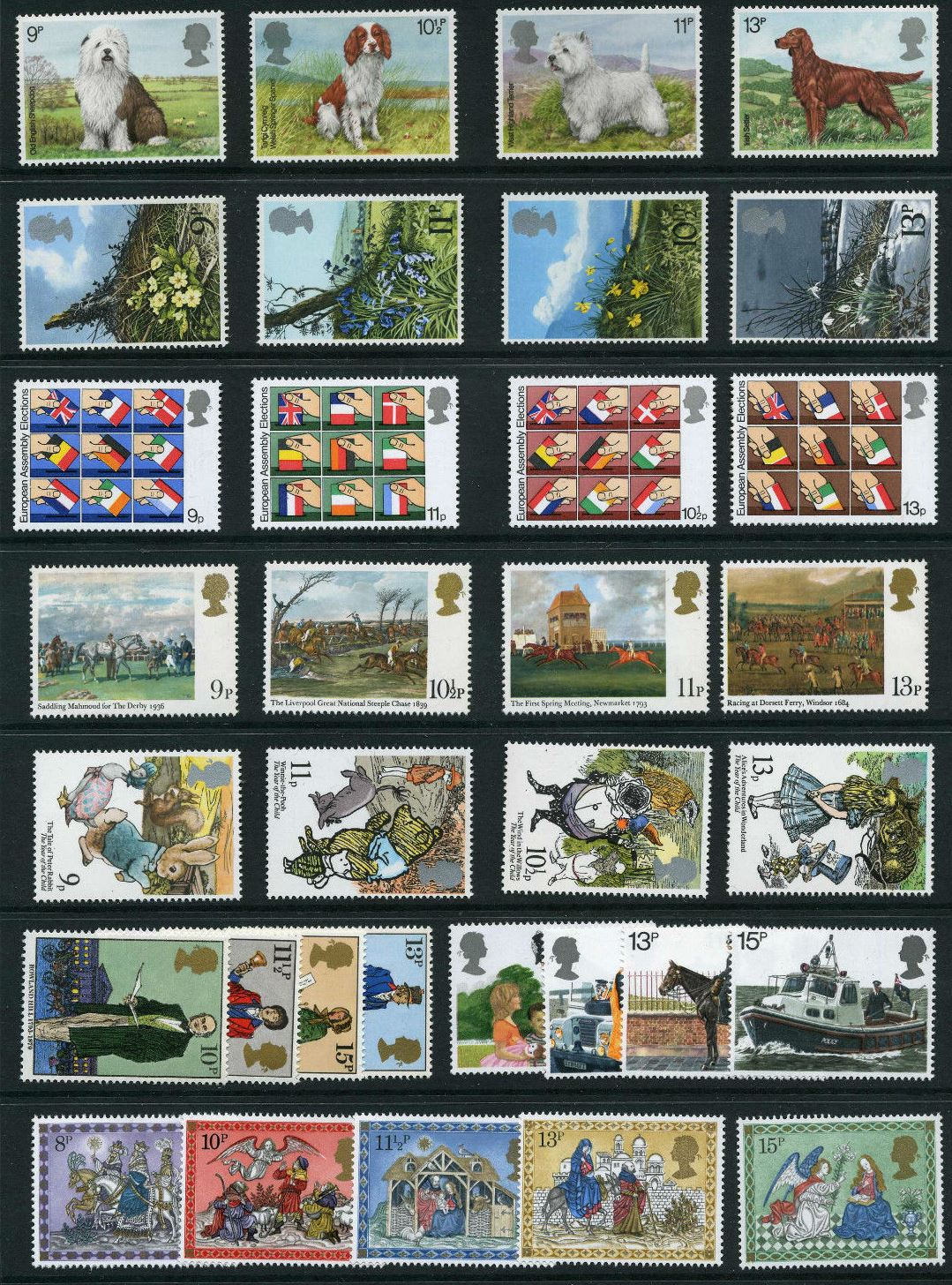 1979 GB - * Year Set. All Comms from this year * (33) MNH