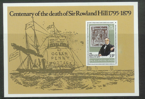 1979 FALK - SGMS367 Death Anniversary of Rowland Hill M/S MNH