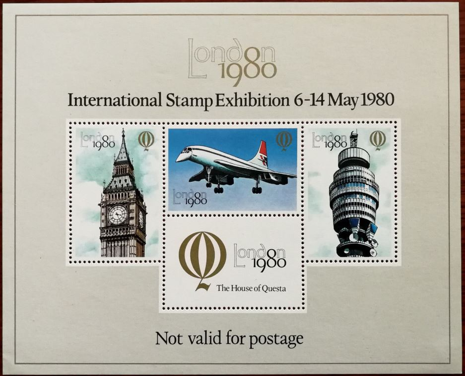 "1980 GB - ZMSxxxx - ""London 1980"" International Cinderella 1 MNH"