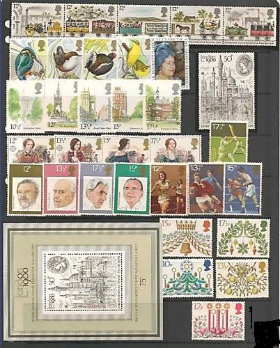 1980 GB - * Year Set. All Comms from this year * (34-1) MNH