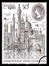 "1980 GB - ""London 1980"" International Stamp FU"