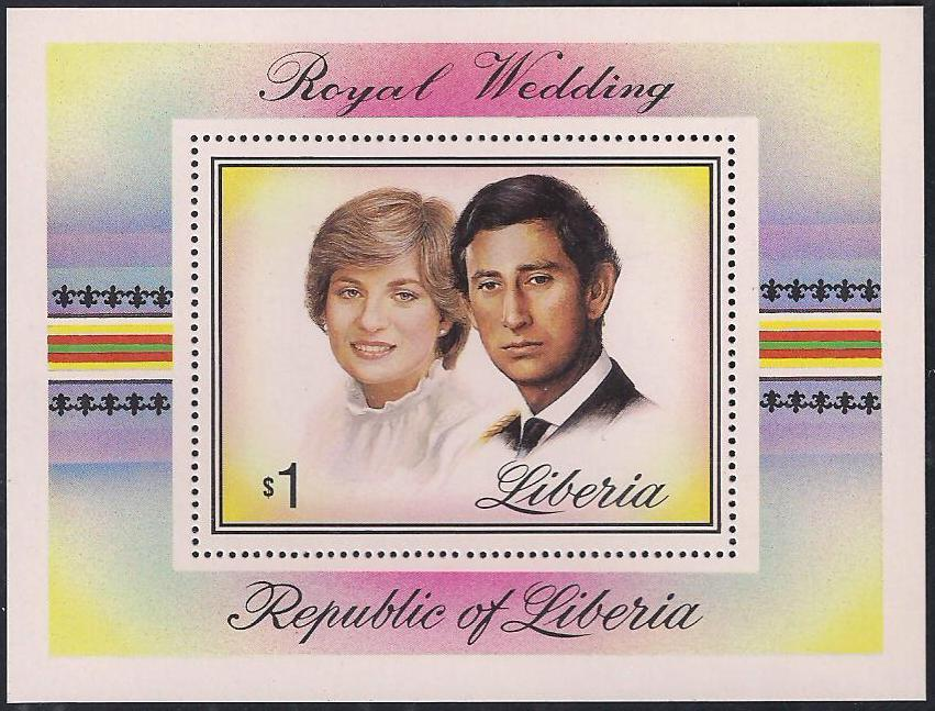 1981 Liberia - Charles and Diana Wedding $1 Mini-Sheet MNH - Click Image to Close