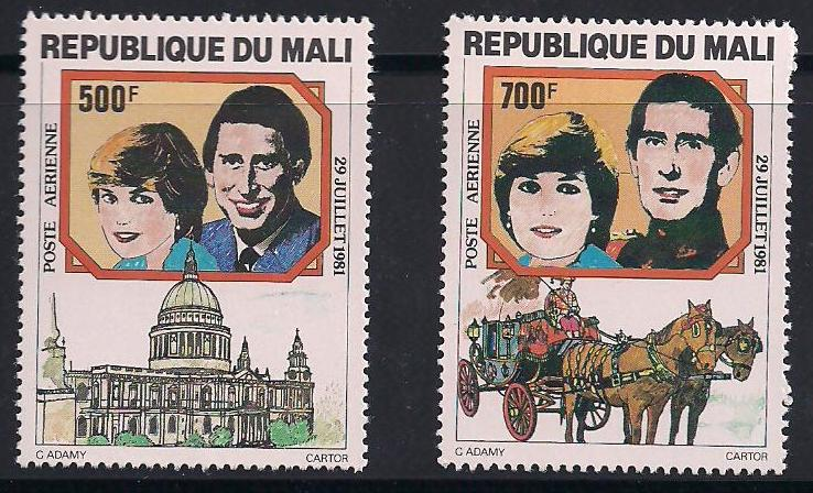 1981 Mali - Charles and Diana Wedding Set (2) MNH