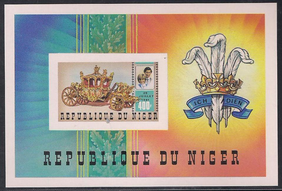 1981 Niger - Charles and Diana Wedding 400f Imperforate MS MNH