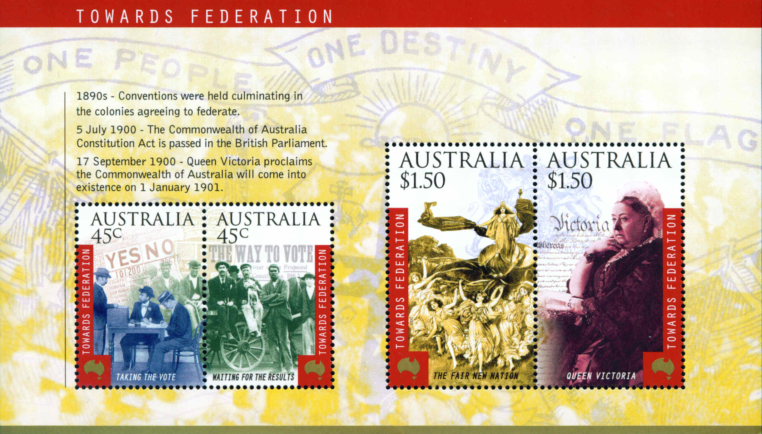 2000 AUS - SGMS1981 Centenary of Constitution Act MS MNH
