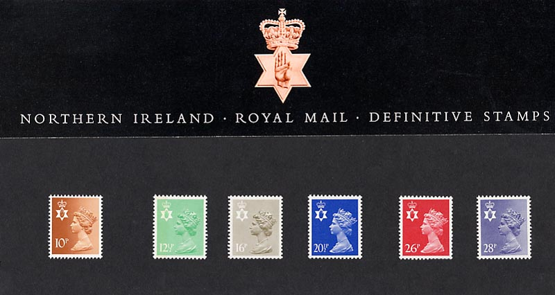 1983 GB - PP D004 - Machin N. Ireland (10p to 28p) Pres Pack