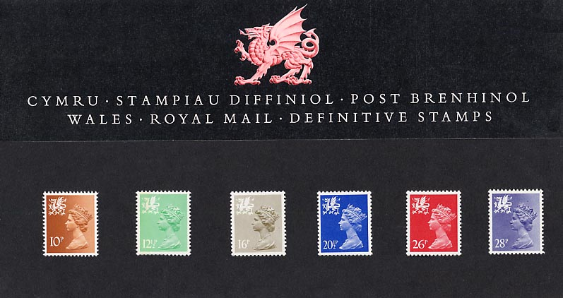 1983 GB - PP D003 - Machin Wales (10p to 28p) Pres Pack