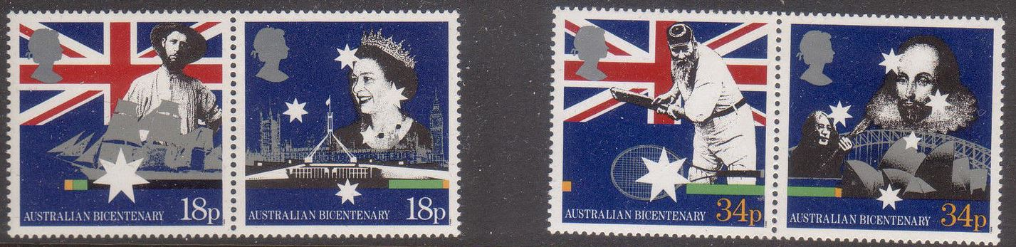 1988 GB - SG1396-99 - Australian Bi-Centennial - UK Set (4) VFU
