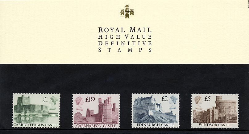 1988 GB - PP D018 - Castles High Values 1st Series Pres Pk (4)