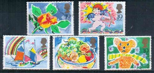 1989 GB - SG1423-27 - Greetings Singles x 5 VFU