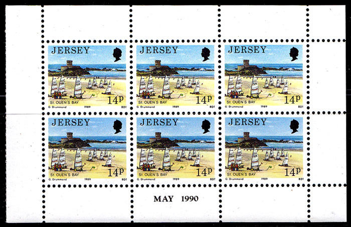 1989-95 Jersey Scenes Definitive Issue 5 Booklet Panes of 6 MNH