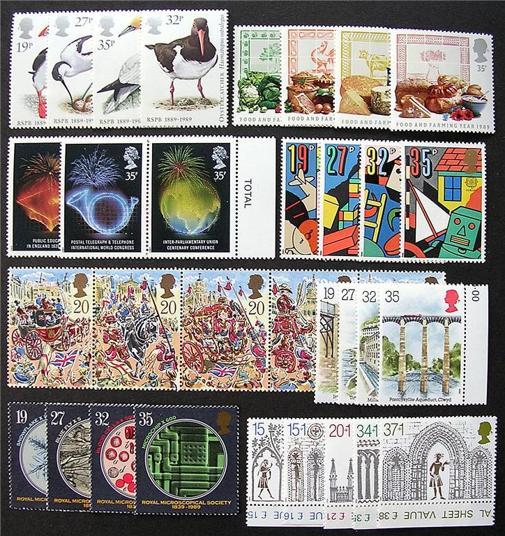 1989 GB - * Year Set. All Comms from this year * (34) MNH