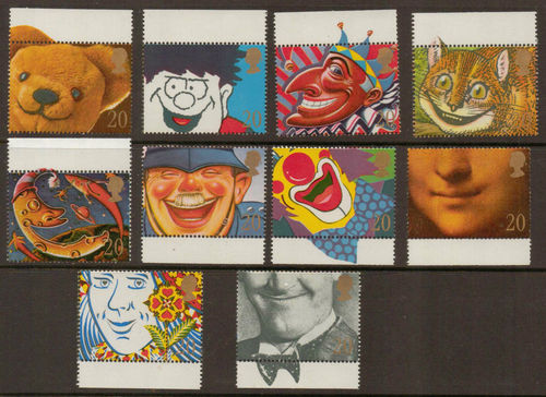 1990 GB - SG1483-92 - Greetings Singles Set of 10 x 20p 2B MNH