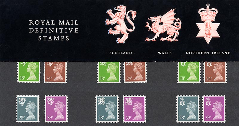 1991 GB - PP D026 - Machin Mixed Regionals (18p to 39p)