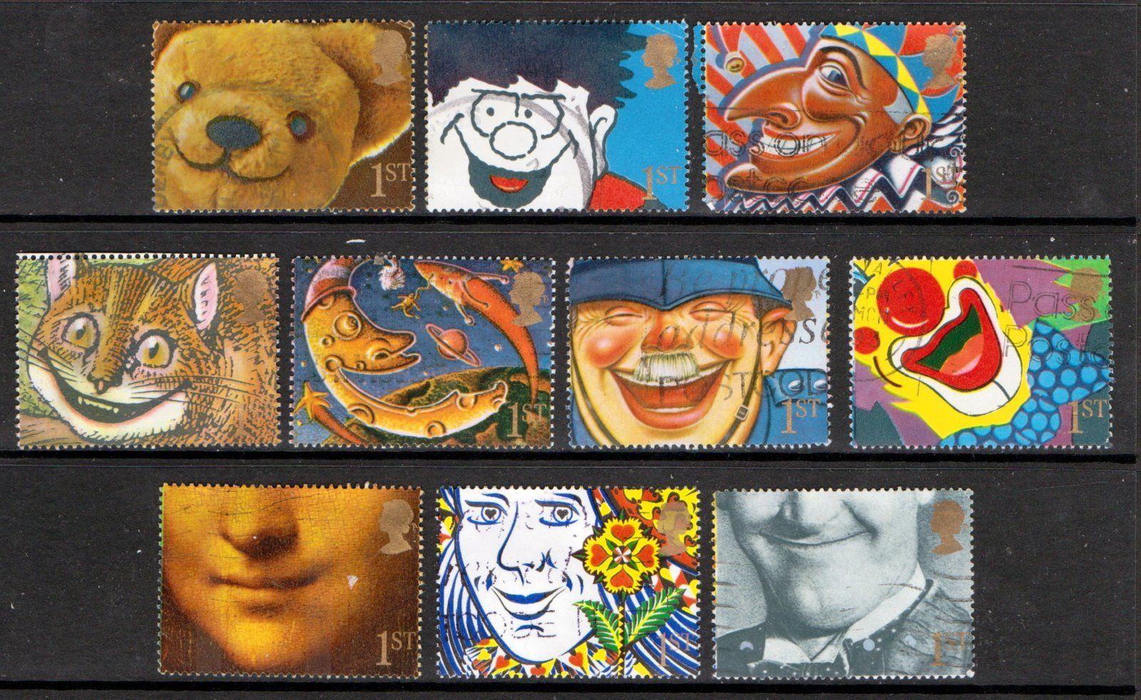 1991 GB - SG1550-59 - Greetings Smiles Singles (10) VFU