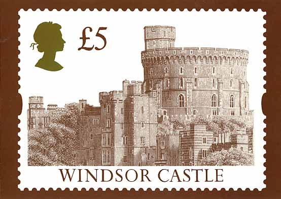 1993 GB - PHQ D5 - £5 Windsor Definitive Card - MNH