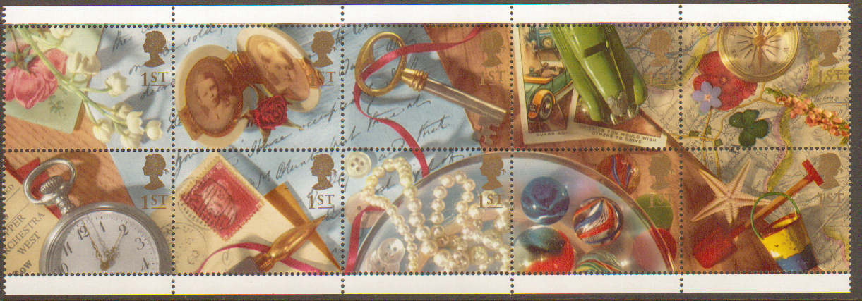 1992 GB - SG1592-01 - Greetings Smiles Se-tenant Block (10) MNH