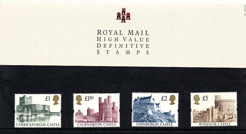 1992 GB - PP D027 - Castles High Values 2nd Series PP (4)