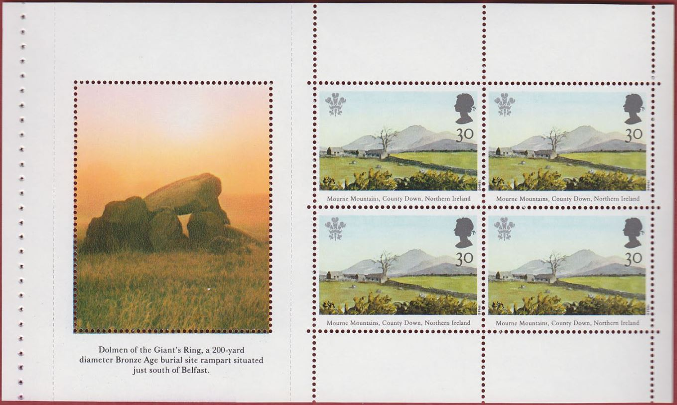 1994 GB - SG1812a - Pane 1 from DX16 30p x 4 NI PB DX16 MNH