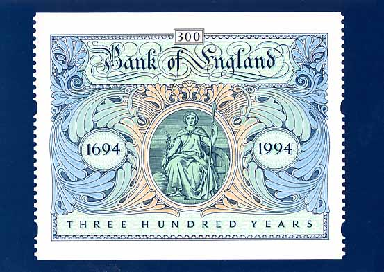 1994 GB - PHQ D9 - Bank of England Label PHQ MNH