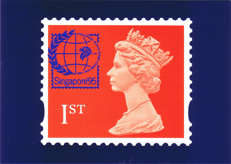 1995 GB - PHQ D6a - 1st Flame Horizontal (Singapore) PHQ MNH