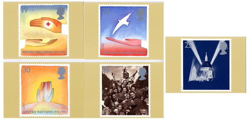 "1995 GB - PHQ 170 - Peace and Freedom (""Europa"") - Set (5) MNH"