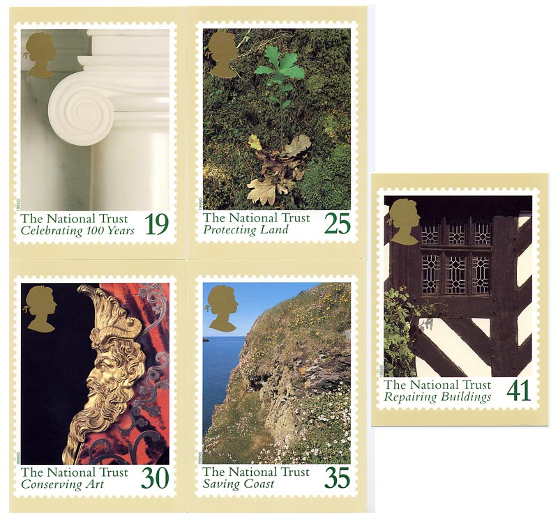 1995 GB - PHQ 169 - Centenary of National Trust - Set (5) MNH