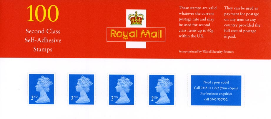1998 GB - BS1 Business Sheet (2nd Walsall) - Top Panel FDC VFU