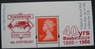 1998 GB - Boots Label - Rushstamps 40th Anniversary MNH