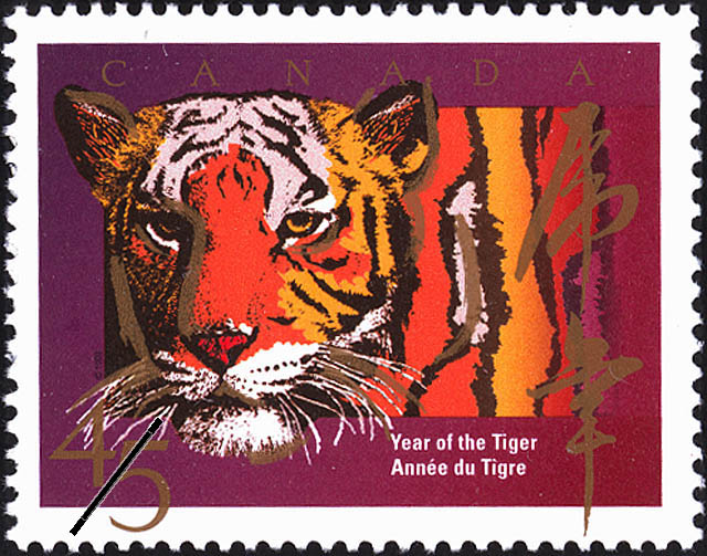 1998 cdn sg1767 45 year of the tiger chinese new year mnh - Chinese New Year 1998