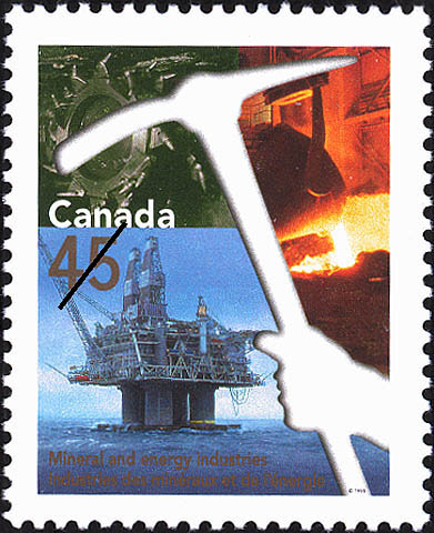 1998 CDN - SG1790 45¢ Mineral and Energy Industries MNH