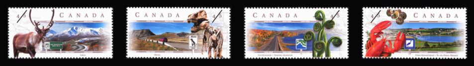 1998 CDN - SG1810-3 45¢ Scenic Highways (2nd series) Singles MNH