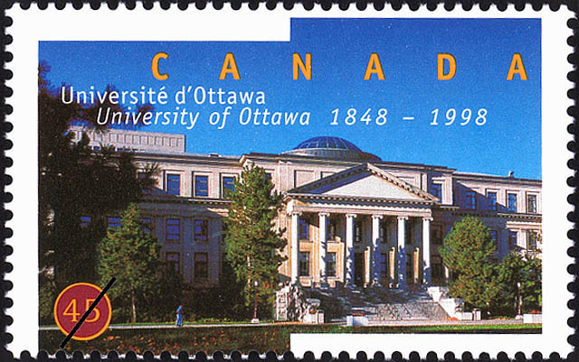 1998 CDN - SG1835 45¢ 150th Anniv of University of Ottawa MNH