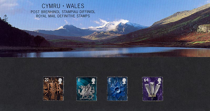 1999 GB - PP D046 - Pictorial Wales (1st, 2nd, E and 64p)