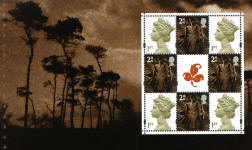2000 GB - Wales Pane 4 Machins from Trees PB DX26 MNH