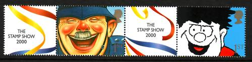 2000 GB - LS1 - 1st Pair+Labels from First Smiler Sheet MNH (2)