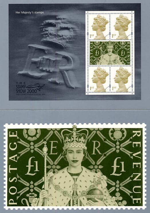 2000 GB - PHQ PSM03 - Stamp Show Her Majestys Stamps Set (2) MNH